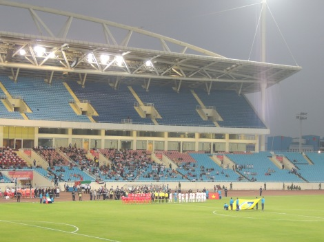 My Dinh National stadium, Hanoi. Vietnam v UAE