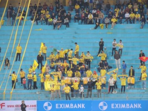 Jubilant home fans