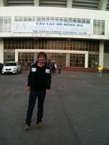 Outside the SÂN VẬN ĐỘNG stadium, Ninh Binh