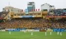 SLNA fans celebrate their teams late equaliser