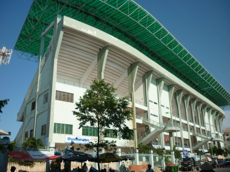 The impressive Chi Lang stadium