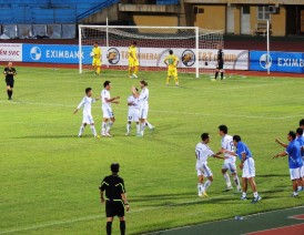 Janjus celebrates scoring for DaNang