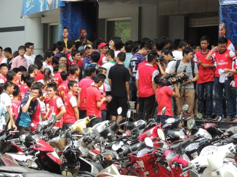 Fans have been arriving from all over Vietnam