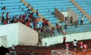 Ninh Bink players celebrate with their small travelling support