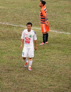 Thanh Luong; with the days match sponsor T&T's kit worryingly started to resembles Tottenham.