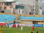 Samson easily beats Thanh Thắng from the penalty spot
