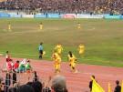 Van Bakel and Ceh celebrate their teams opening goal