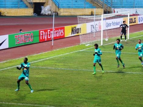Maziya's Nashid Ahmed celebrates his equalizer