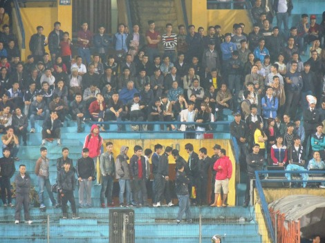 Hà Nội fans in their 'new surroundings'