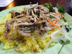 pre-match Cơm gà (chicken and rice)