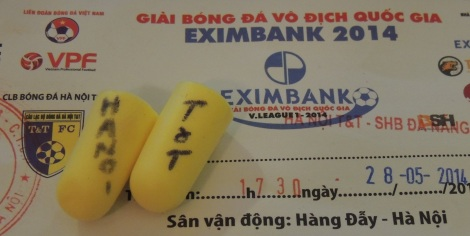 Fed up of traffic noise? show your support for T&T with these fetching 'limited edition' earplugs.