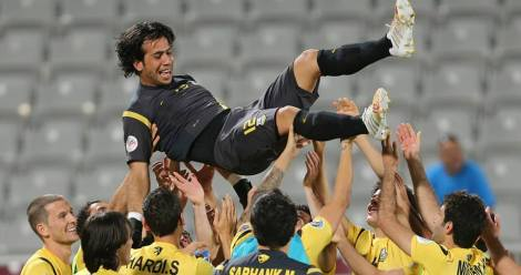 Arbil celebrate qualifying for the quarter-finals