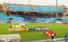 The teams line up, unaware of what was about to unfold