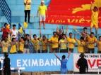 Thnah Hoa fans celebrate taking the lead
