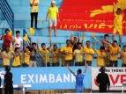 Thnah Hoa fans celebrate taking the lead