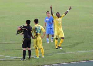 Samson, by far the best best striker in the league