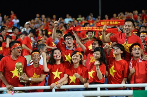 Fans have been flocking to the My Dinh Stadium in Hanoi