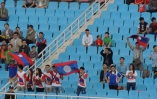 Laos fans, the pockets aroudn the stadium made plenty of noise