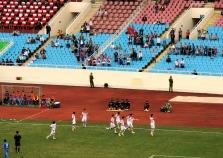 Khampheng Sayavutth celebrates scoring a fine freekick for Laos