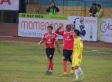 Long An's Souleymane celebrates his first goal of the season