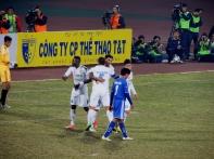Gonzalo celebrates his first goal of the seasonj