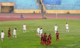 U23 Vietnam celebrate Mạnh Hùng's opening goal
