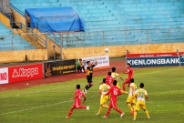 Tran Anh Duc commanded the home sides goal with confidence