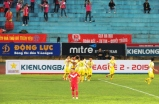 Hà Nội players celebrate their first goal of the campaign
