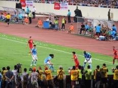 Vietnam goalscorer, Nguyen Van Quyet.