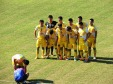 Hanoi's no.7 falls asleep during the team photo