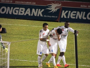 an emotion Dương Thanh Hào is led away after his tackle ended Striker, Abass Dieng's, season with a double fracture