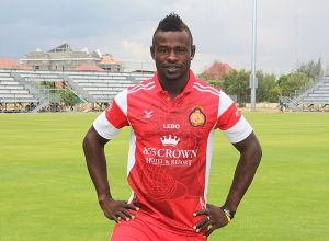 Quang Ninh's new striker, George Bisan