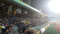 A decent crowd at the Hang Day Stadium