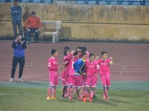 Hà Nội FC celebrate