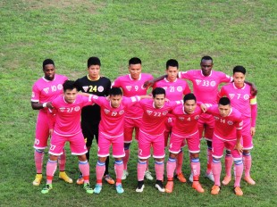 Hà Nội FC line up for the final time