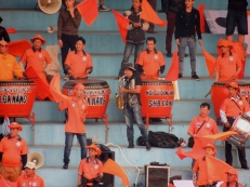 Amazing noise throughout from the travelling Da Nang fans