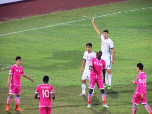 The leagues top scorer, Danang's Gaston Merlo.