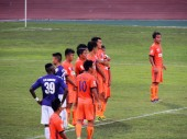 Hanoi T&T stuck to their lucky purple shirts