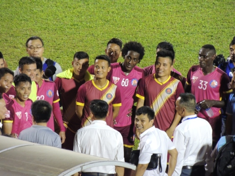 The great team spirit lives on from their Hanoi FC days