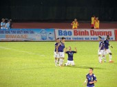 T&T's Nguyễn Quang Hải celebrated his second of the match