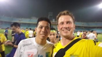 Bit blurry but its Nguyễn Văn Quyết !